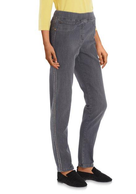 Antraciet jeans met lurex - slim fit