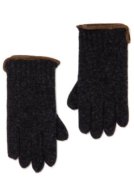 Antraciet wollen handschoenen