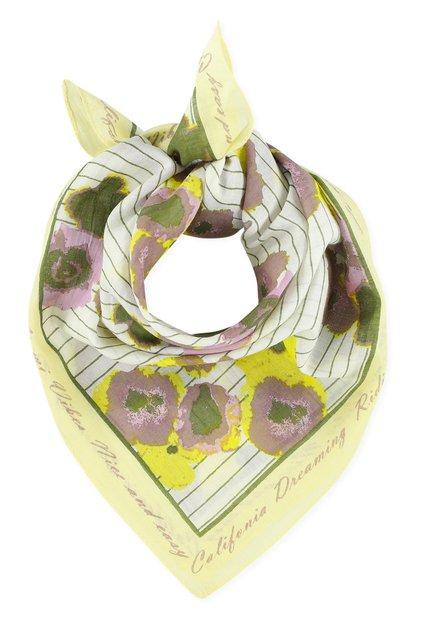 Bandana jaune à fleurs