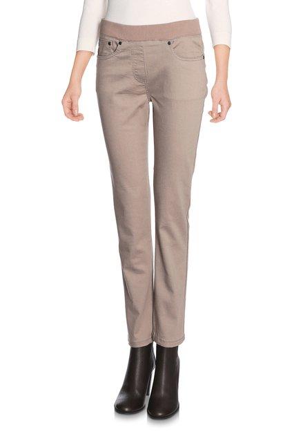 Beige broek met elastische taille
