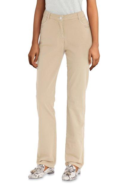 Beige broek met pareltjes - straight fit