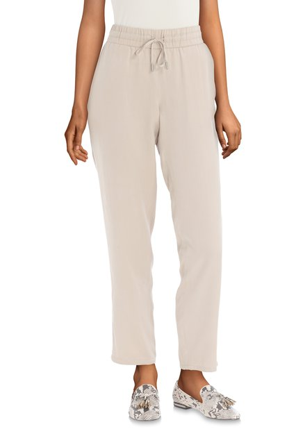 Beige broek met witte streep