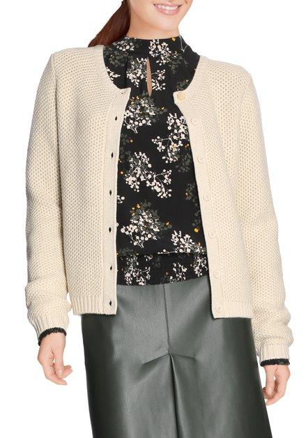 Beige cardigan met lurex in tricot