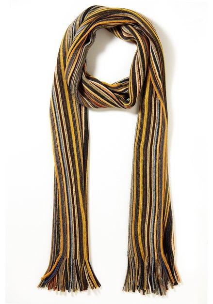 Beige gestreepte sjaal