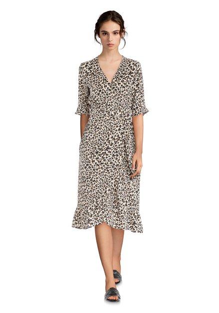 Beige jurk met panterprint