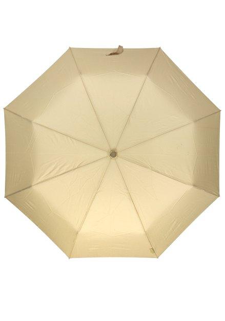 Beige opvouwbare paraplu
