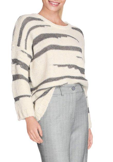 Beige pull met zilverkleurige zebraprint