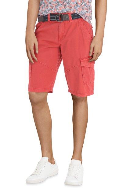 Bermuda rouge en coton