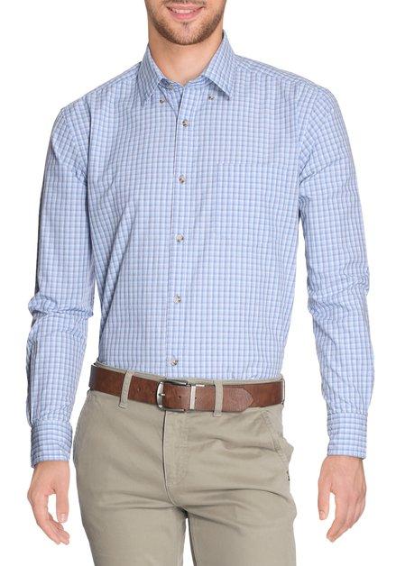 Blauw geruit hemd - comfort fit