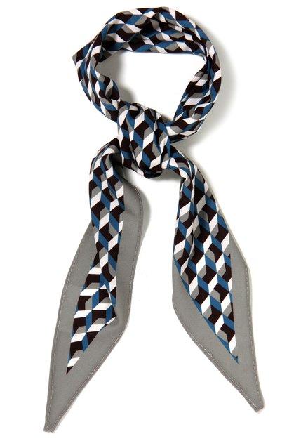 Blauw-grijze foulard