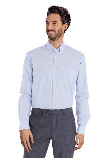 Blauw hemd met fijne streepjes – Raf - regular fit