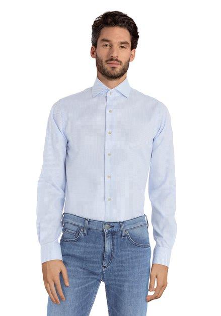 Blauw hemd met stipjes – slim fit