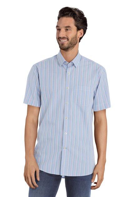 Blauw hemd met strepen - Robertus – regular fit