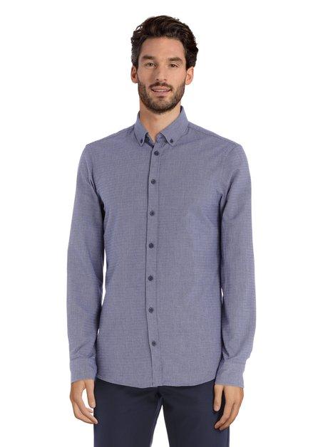 Blauw katoenen hemd - slim fit