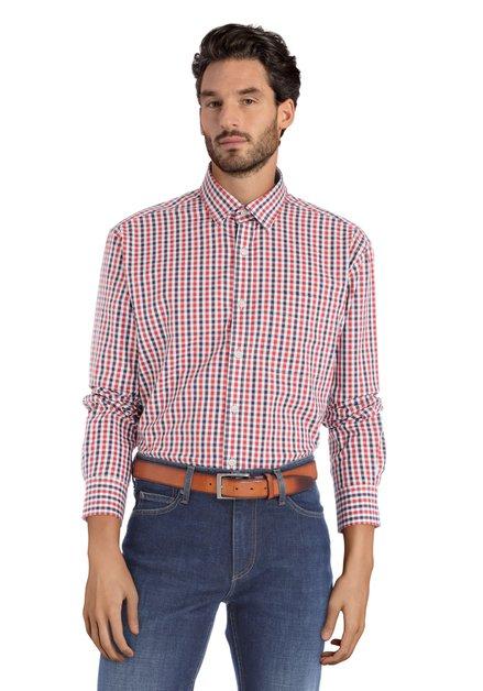 Blauw-rood geruit hemd – comfort fit