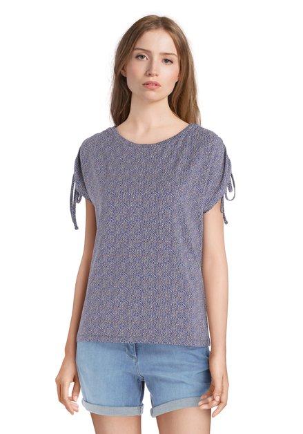 Blauw T-shirt met motief en nestels