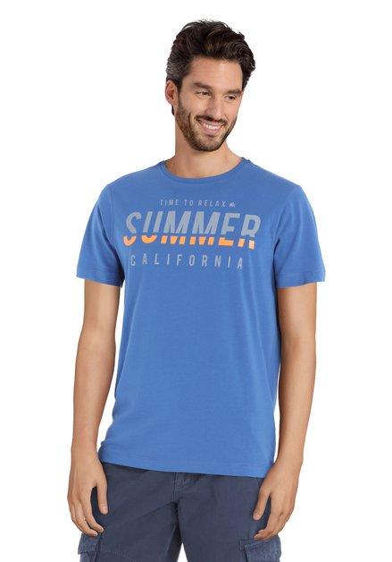 Blauw T-shirt met print