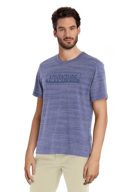 Blauw T-shirt met ronde hals