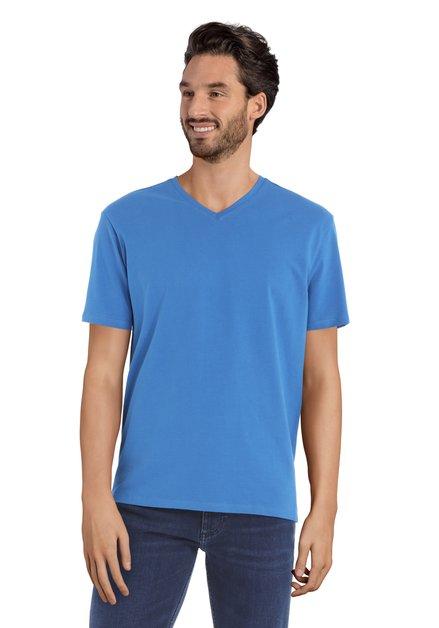 Blauw T-shirt met V-hals