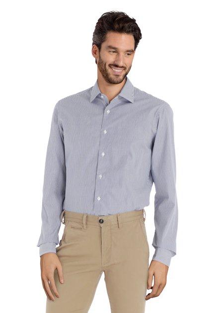 Blauw-wit gestreept hemd - slim fit