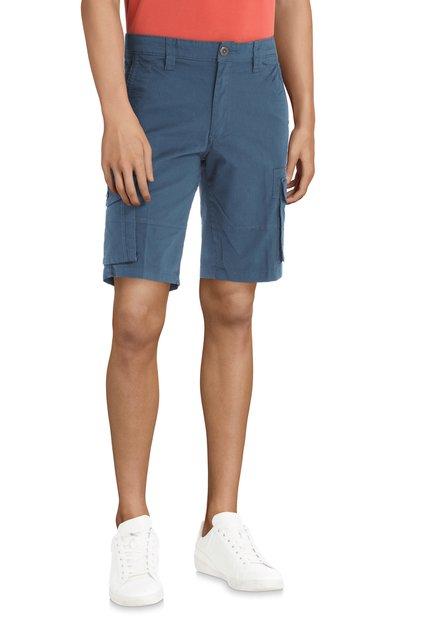 Blauwe bermuda met zakken