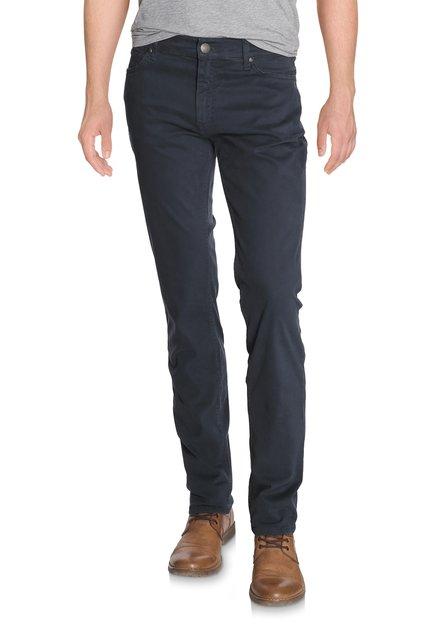 Blauwe broek in stretchkatoen - straight fit
