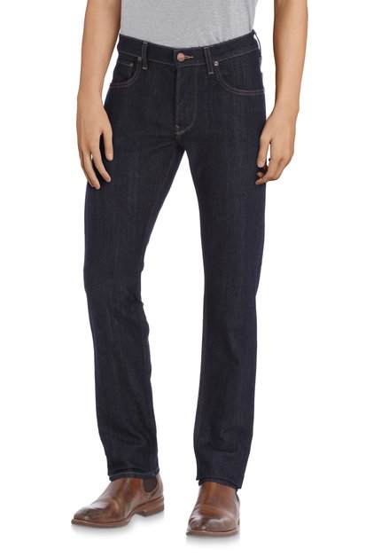 Blauwe effen jeans - Daren - regular fit - L32
