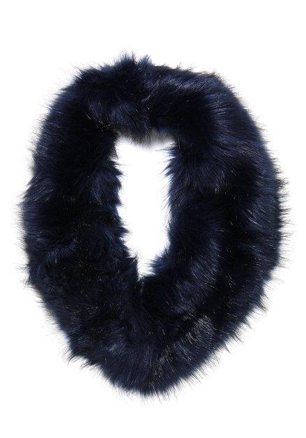 Blauwe faux fur sjaal