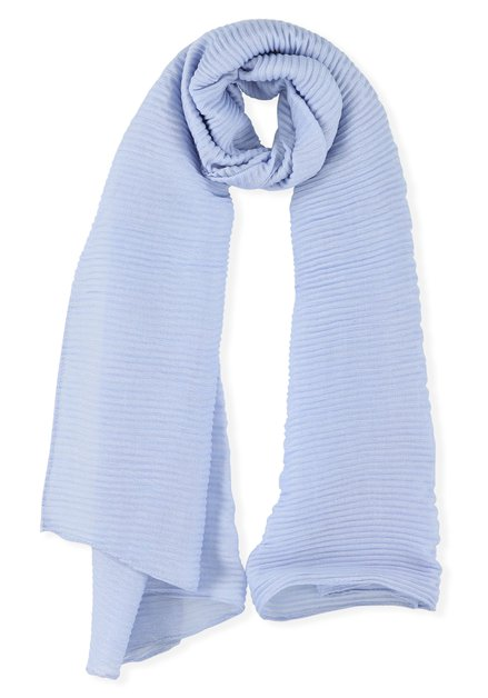 Blauwe geribde sjaal