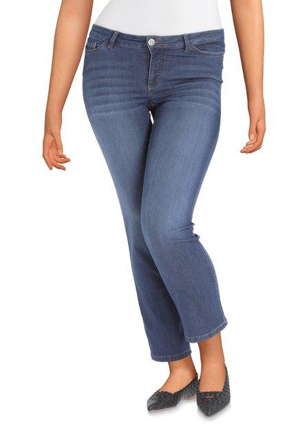Blauwe jeans met lichte washing – straight fit