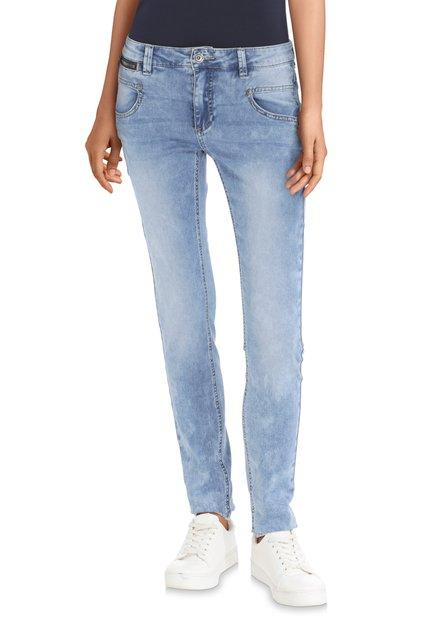 Blauwe jeans met wassing – slim fit