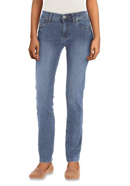 Blauwe jeans met wassing - slim fit