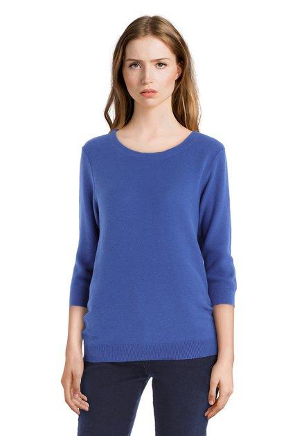 Blauwe katoenen trui