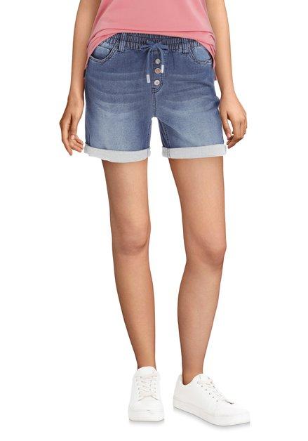 Blauwe short in denimstijl