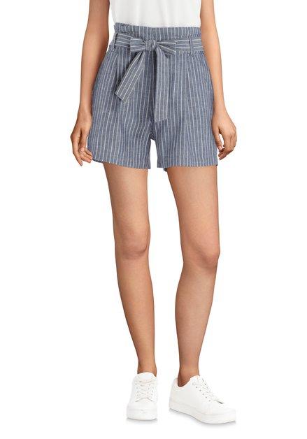 Blauwe short met witte strepen