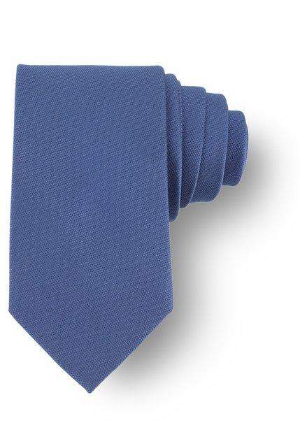 Blauwe zijden das