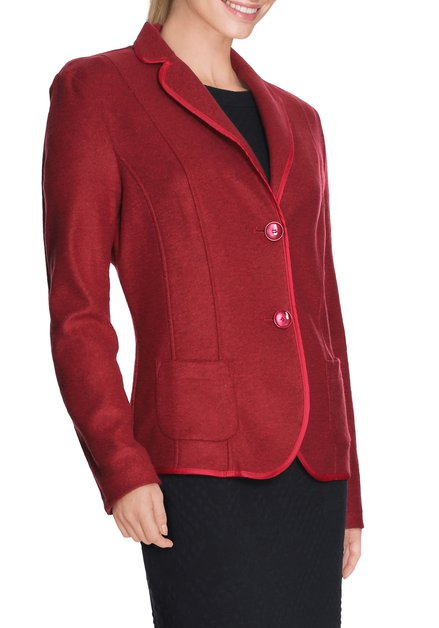 Blazer bordeaux comportant de la laine