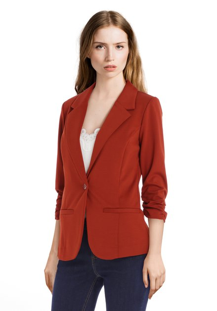Blazer brun orange à manches 3/4