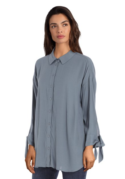 Blouse oversized grise