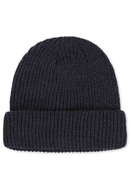 Bonnet bleu foncé en tricot
