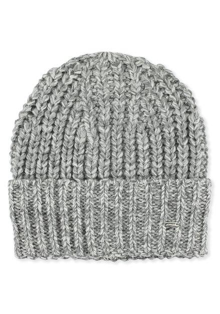 Bonnet gris en tricot