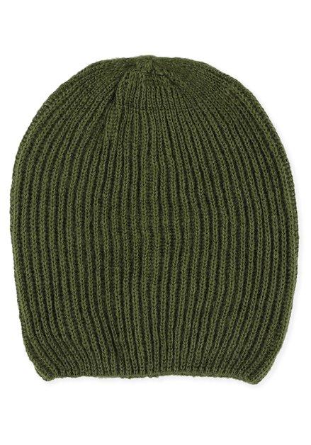 Bonnet kaki en tricot