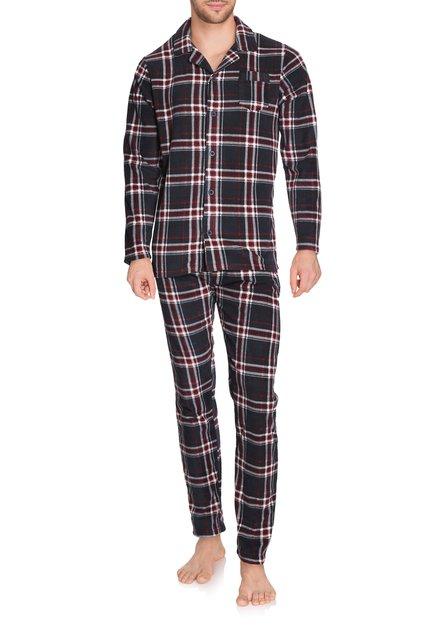 Bordeaux-blauw geruite pyjama