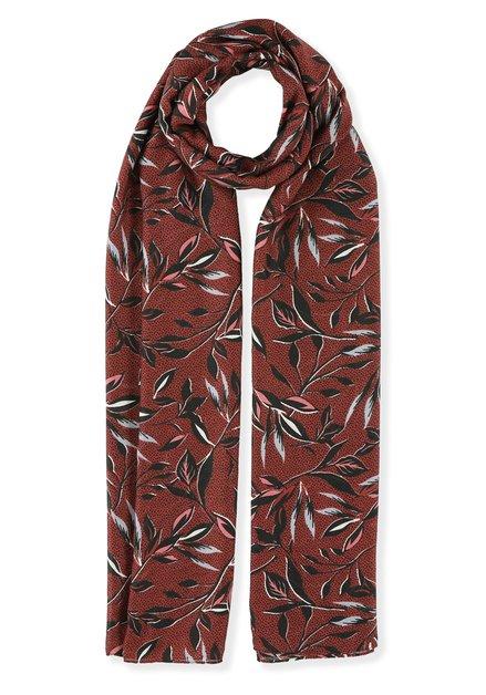 Bordeaux foulard met bloemen