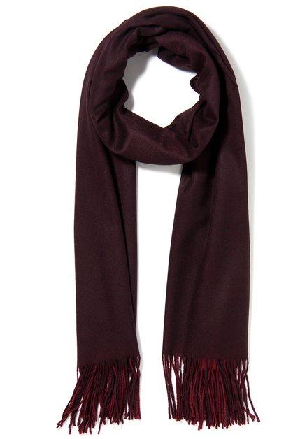 Bordeaux sjaal met kasjmierwol