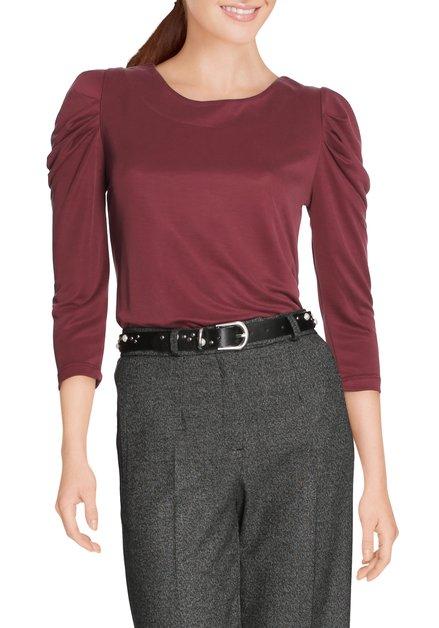 Bordeaux T-shirt met ronde hals