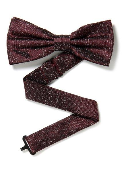 Bordeaux zijden strikdas met spikkel