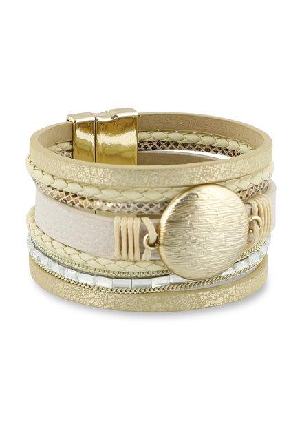 Bracelet large doré