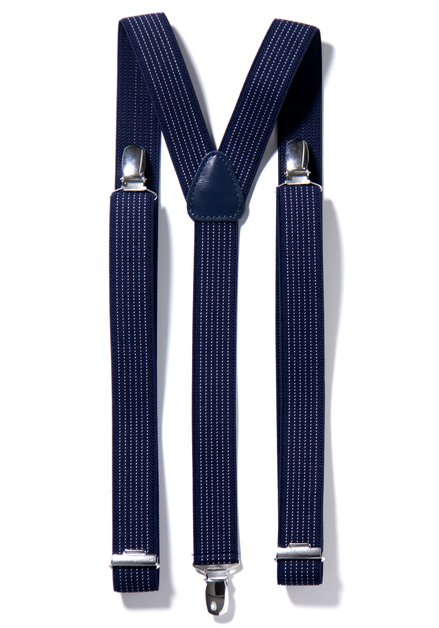 Bretelles bleu marin Motard