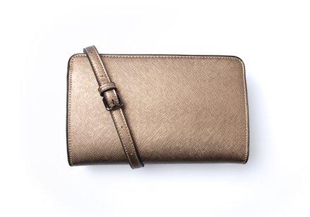 Bronskleurige handtas